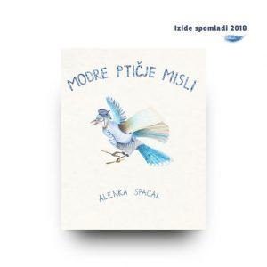 Naslovnica avtorske slikanice Modre ptičje misli